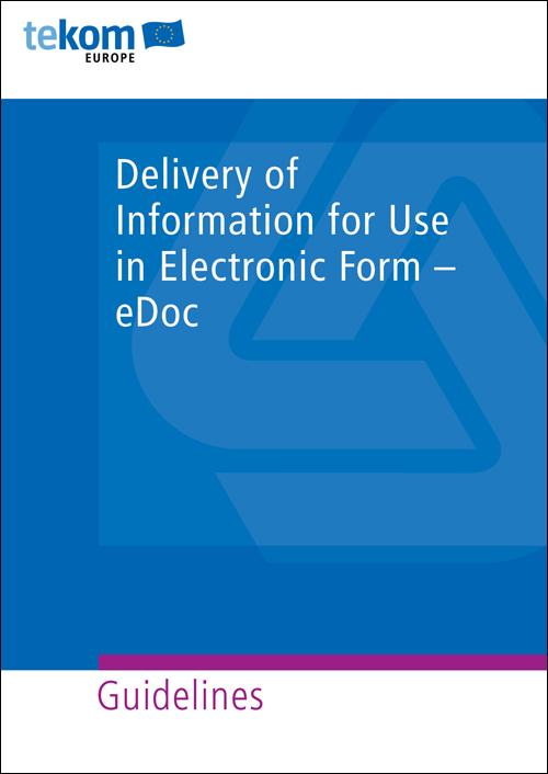 Ausgabe Delivery of information for use in electronic form – eDoc