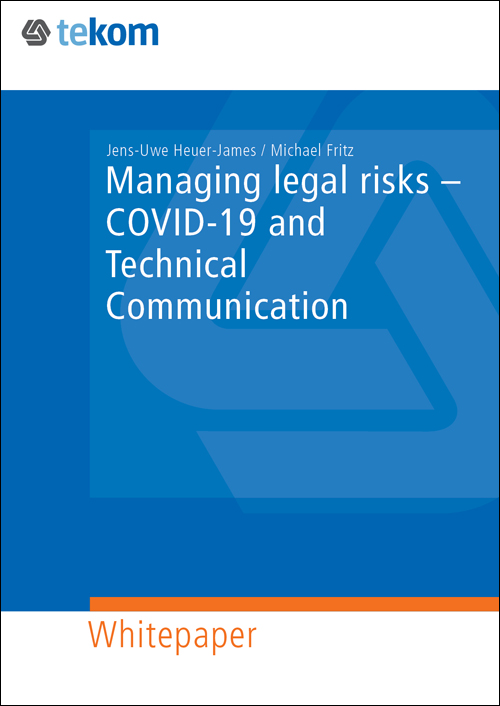Ausgabe Managing legal risks – COVID-19 and Technical Communication